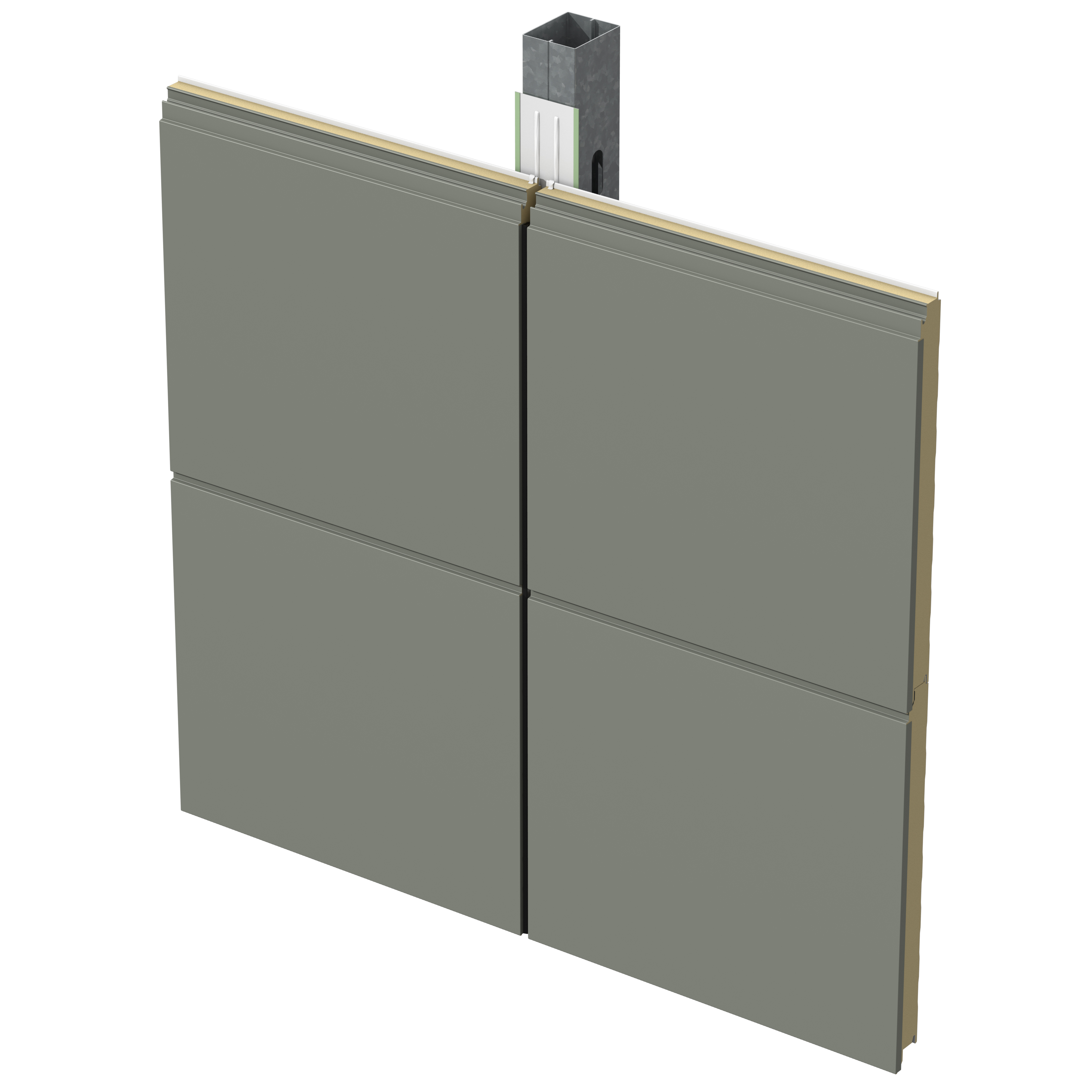 Architectural Insulated Panels : Cf architectural horizontal wall panel metl span