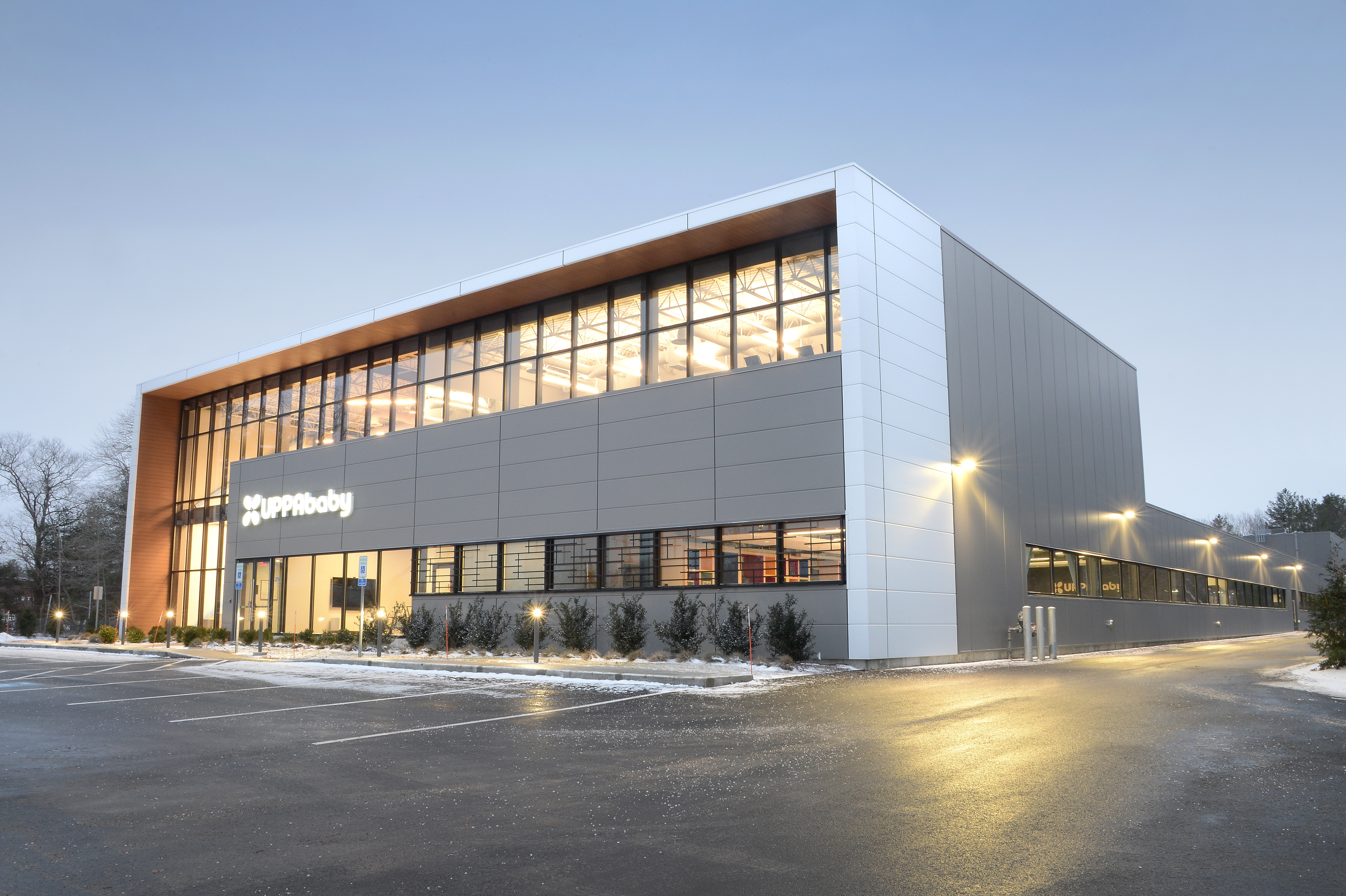 Metl-Span IMPs complement glass for industrial warehouse aesthetic