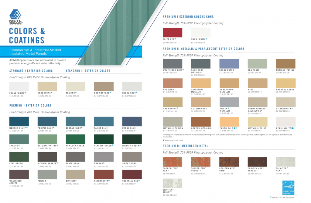 Colors Metl Span Insulated Wall Panels Roof Panels